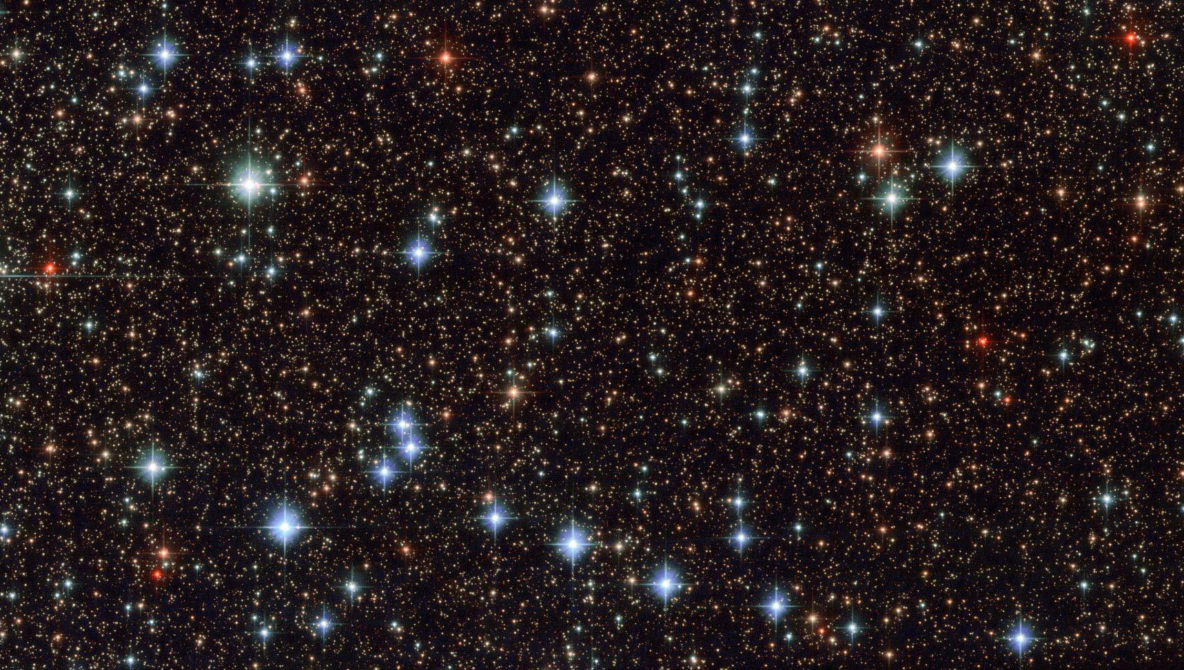Hvězdné pole. Foto: ESA/NASA/Hubble.