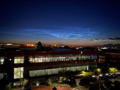 Noční svítící oblaka z italského Maranella 25. června 2021. Foto: Debora Lančová.